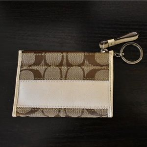 Coach Card Keychain